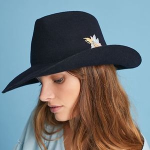 Anthropologie G. VITERI Floral Rancher Hat